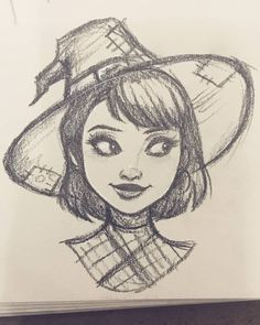 Learn To Draw Manga - Art Sketches Girl Drawing Sketches, Pencil Art Drawings, Manga Drawing, Cute Drawings, Drawing Art, Witch Drawing, Sketch Art, Cartoon Kunst, Cartoon Drawings