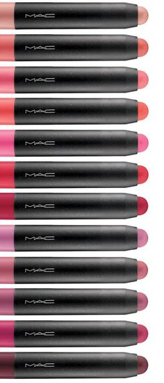MAC PatentPolish Lip Pencil for Spring 2014.. Needing Patent Pink, Kittenish, Pleasant, Fearless, Go Girlie at least lol