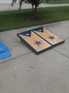 Oval Rugs Dallas Cowboys cornhole set