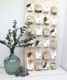 Instead of buying an Advent calendar, make it yourself! Get inspired with our selection of 15 Advent calendar ideas. Homemade Advent Calendars, Wooden Advent Calendar, Diy Calendar, Calendar Design, Calendar Board, Christmas Calendar, Christmas Holidays, Christmas Crafts, Christmas Tables