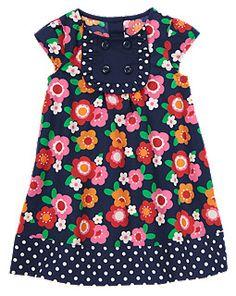 Flower Dot Dress- inspiration.  I think I could make something like this.