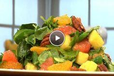 Caribische waterkerssalade Fruit Salad, Pork, Cooking, Ethnic Recipes, Sweet, Salads, Pineapple, Pork Roulade, Cuisine