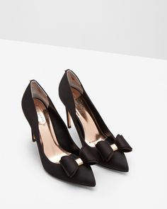 Bow detail courts - Black | Shoes | Ted Baker