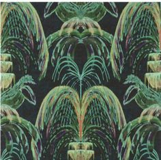 """New wallpaper called """"Trevi"""" printed on rafia from the Dessins 2 collection just out ! Palm Wallpaper, Floor Wallpaper, Painting Wallpaper, Architectural Digest, Cool Lighting, Designer Wallpaper, House Painting, Fountain, Plant Leaves"""