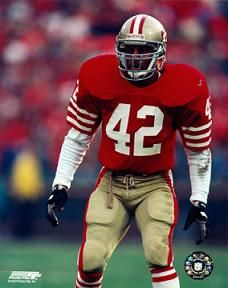 San francisco ronnie lott action photo all american girls professional baseball league players association Nfl 49ers, Nfl Football, American Football, School Football, Football Names, Football Stuff, Baseball Cards, Football Shirts, Football Helmets