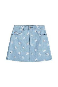 MARC JACOBS - High Waist Denim Skirt   STYLEBOP