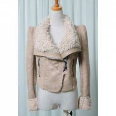 $28.79 Stylish Lapel Neck Solid Color Long Sleeves Imitated Fur Thicken Coat For Women