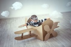 Stock Photos, Royalty Free Images & Video Footage by Dreamstime Stock Photograph… Stockfotos, lizenzfreie Bilder & Video Footage von Dreamstime Stock Photography Cardboard Airplane, Cardboard Toys, Cardboard Playhouse, Cardboard Furniture, Diy For Kids, Crafts For Kids, Airplane Party, Airplane Costume, Planes Party