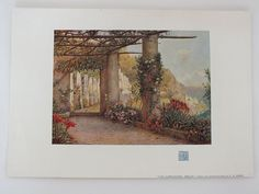 "Vintage unframed colour Art print from an early 1900s issue of the Studio Magazine. Printed on ivory coloured paper.  No printing to reverse.  Sheet measures approx 11.00"" x 7.625"" (28.00 cms x 19.50 cms).  Good clean and tidy condition."