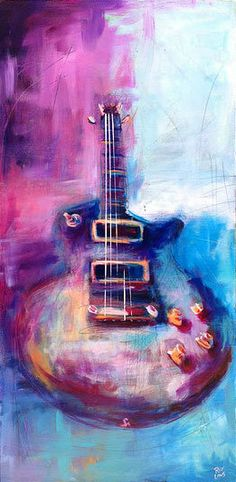 1959 Gibson Les Paul Guitar Acrylic Painting. http://www.roylaws.com/#!SOLD---1959-Les-Paul---The-Standard/zoom/crbp/i9nw2