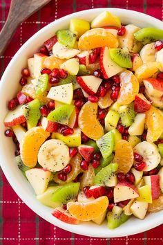 Winter Fruit Salad with Lemon Poppy Seed Dressing - Cooking Classy - Rita Starnes Winter Fruit Salad, Best Fruit Salad, Fruit Salad Recipes, New Fruit, Fruit Snacks, Fruit Smoothies, Fruit Salads, Fruit Salad Ideas Parties, Fruit Party