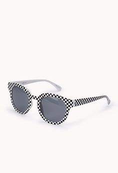 Checkered Cat-Eye Sunglasses from the new Superhero Collection at Forever 21 Shop Forever, Forever 21, 80s Fashion, Cat Eye Sunglasses, Eyewear, Latest Trends, Best Deals, 1980s, Wave