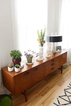 Aparadores Mid century; Mueble vintage que os aportará calidez.