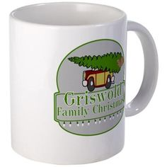 Griswold Family Christmas Mug  #Griswold Family #Christmas with station wagon, Christmas tree and squirrel #ClarkGriswold