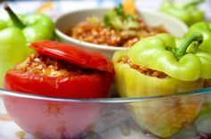 Peppers Stuffed with Quinoa, Spinach (Mexican cheese)