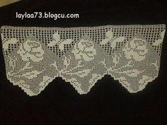 derya baykal Kelebekli Perde Ucu Crochet Curtains, Love Crochet, Filet Crochet, Carpet, Butterfly, Lace, Crafts, Crochet Lace, Dish Towels