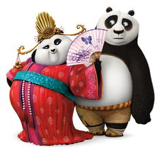 """Po and Mei Mei """"Nunchuck Chick""""- True fact: In an early version of the film, Po and Mei Mei were supposed to be betrothed from birth. LOL! #IShipIt"""