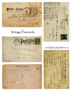Free to use postcard collage sheet