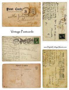 Free to use postcard collage sheet
