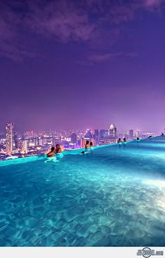Rooftop Pool Marina Bay Sands Singapore