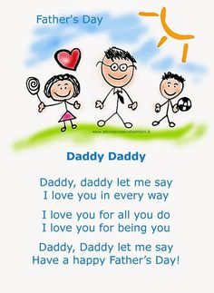Artistic Actions For Kids: Nursery rhyme for Father's Day in English Fathers Day Songs, Fathers Day Quotes, Fathers Day Crafts, Happy Fathers Day, Diy Father's Day Crafts, Father's Day Diy, Preschool Songs, Kids Songs, Art Festa
