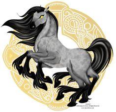 Sleipnir es un caballo con 8 patas que procede de la mitología nórdica. Es de color gris, y pertenecía al dios Odín. Sus ocho patas simbolizan los 8 vientos, y, según algunos autores, tendría runas en los dientes. Nació de un engaño que hizo un dios al caballo de un gigante, para que el gigante no acabara su trabajo. Se lo ofreció a Odín. Sleipnir puede cabalgar por tierra, mar y agua; y puede ir a la tierra de los muertos cuando quiere. Es considerado el rey de las monturas.