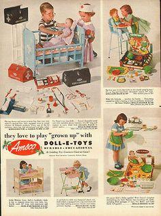 1953 Vintage ad for Amsco's Dollo-E-Toys/50's toys  American Metal Specialties C | Collectibles, Advertising, Merchandise & Memorabilia | eBay!