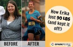 Erika Lost 90 Pounds and Beat Depression. This is SO inspiring!! | via @SparkPeople #motivation #inspiration #weightloss #fitness #health #wellness #newyearnewyou