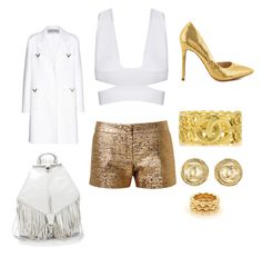 """""""Cocktails, look , white and gold"""" by mathis-weks on Polyvore featuring mode, Lanvin, Liliana, Valentino, Rebecca Minkoff et Chanel"""