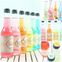 rainbow sodas!