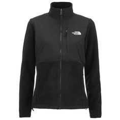 The North Face Women's Denali 2 Polartec Zipped Jacket - TNF Black ($215) ❤ liked on Polyvore featuring black and the north face