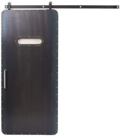 Heavy duty and imposing, the Guardsman is unlike any other door. Composed of distressed steel with rounded corners, this is a statement piece that adds visual weight and contrast to your space. Designed & Crafted entirely in the USA. Interior Sliding Barn Doors, Door Detail, Modern Rustic Interiors, Make Arrangements, Barn Door Hardware, Living Room Inspiration, Round Corner, Cool Items, Design Crafts