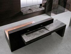 Salle de bain contemporaine / en teck / en pierre TRAMA by Mario Mazzer minotti cucine