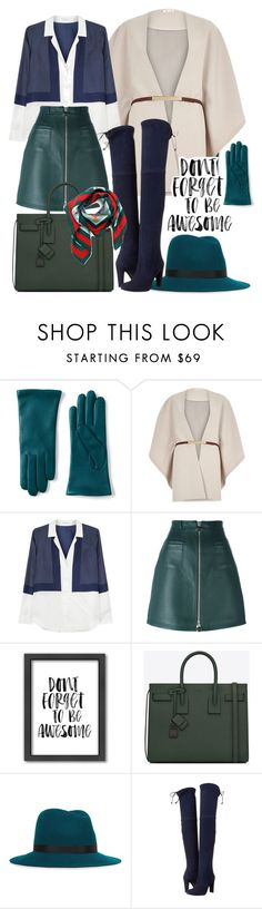 """""""don't forget to be awesome"""" by minaagar on Polyvore featuring Lands' End, River Island, Equipment, Carven, Americanflat, Yves Saint Laurent, rag & bone, Stuart Weitzman and Gucci"""