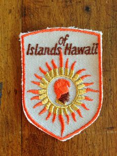 Islands of Hawaii Vintage Travel Patch by by HeydayRetroMart, $7.00