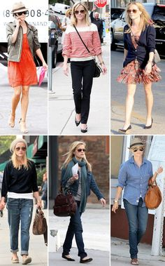 Reese Witherspoon's casual, put together outfits. Love.