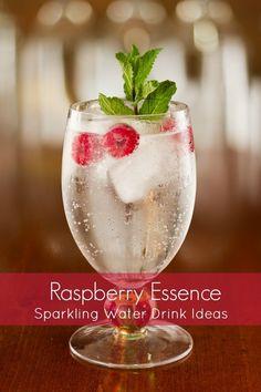 Raspberry Sparkling Water Drink Idea