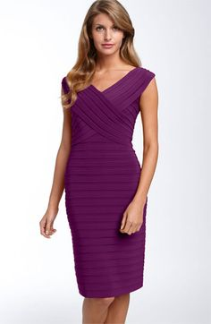 Adrianna Papell Pleated Sheath Dress nordstromweddings#