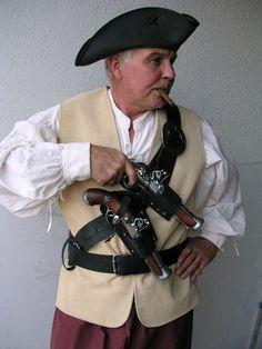 Blunderbuss Pistol with Holster, Pirate Pistol
