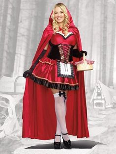 Plus Size Little Red Costume, Plus Size Sexy Red Riding Hood Costume, Plus Size Little Red Riding Hood Costumes Plus Size Halloween, Adult Costumes, Costumes For Women, Halloween Costumes, Halloween 2015, Female Costumes, Pirate Costumes, Halloween Ideas, Halloween Party