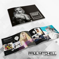 Education programme  brochure for Paul Mitchell Benelux
