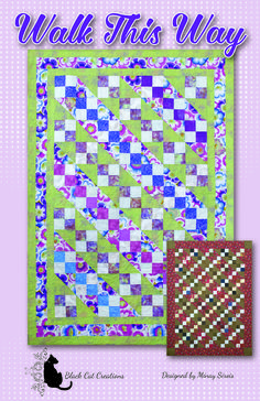 Pieced quilt in sizes twin to king. Scrappy! Walk This Way Quilt Pattern BCC-238 by Black Cat Creations - Minay Sirois.  Check out more of our quilt patterns. https://www.pinterest.com/quiltwomancom/quilts/  Subscribe to our mailing list for updates on new patterns and sales! https://visitor.constantcontact.com/manage/optin?v=001nInsvTYVCuDEFMt6NnF5AZm5OdNtzij2ua4k-qgFIzX6B22GyGeBWSrTG2Of_W0RDlB-QaVpNqTrhbz9y39jbLrD2dlEPkoHf_P3E6E5nBNVQNAEUs-xVA%3D%3D