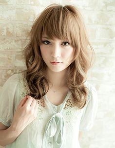Medium Hairstyles with Bangs for Women Over 40 2014 2015 Hairstyles, Permed Hairstyles, Creative Hairstyles, Hairstyles With Bangs, Asian Hairstyles, Bangs With Medium Hair, Medium Hair Styles, Curly Hair Styles, Cute Wedding Hairstyles