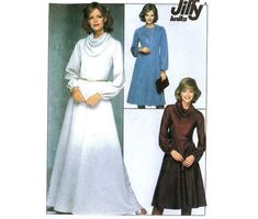 Knit Dress or Top and Skirt Pattern Simplicty Jiffy 8263 Sz 16 Knit Skirt, Knit Dress, 70s Fashion, Vintage Fashion, Wrap Around Dress, Sewing Material, Simplicity Patterns, Cool Boots, Female Form