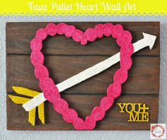 A Glimpse Inside: Faux Pallet Heart Wall Art #MakeItFunCrafts