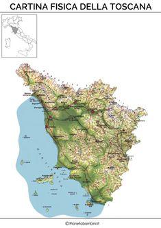 Cartina Fisica Toscana