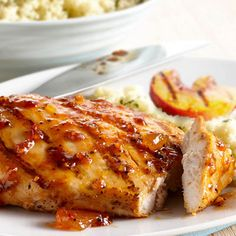 Peachy Grilled Chicken, I am taking this idea and making a fresh version.