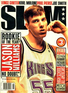 SLAM 35: Sacramento King Jason Williams appeared on the cover of the 35th issue of SLAM Magazine (1999, Cover 3 of 3).
