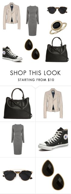"""Tote Bags"" by emma-esselmark on Polyvore featuring Prada, Balenciaga, Whistles, Converse, Christian Dior, Natasha Accessories, Blue Nile, women's clothing, women's fashion and women"