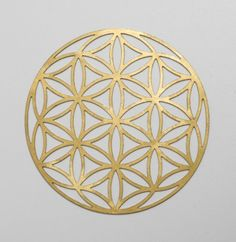 Gold Leaves by Christina Jekey, Flower of Life